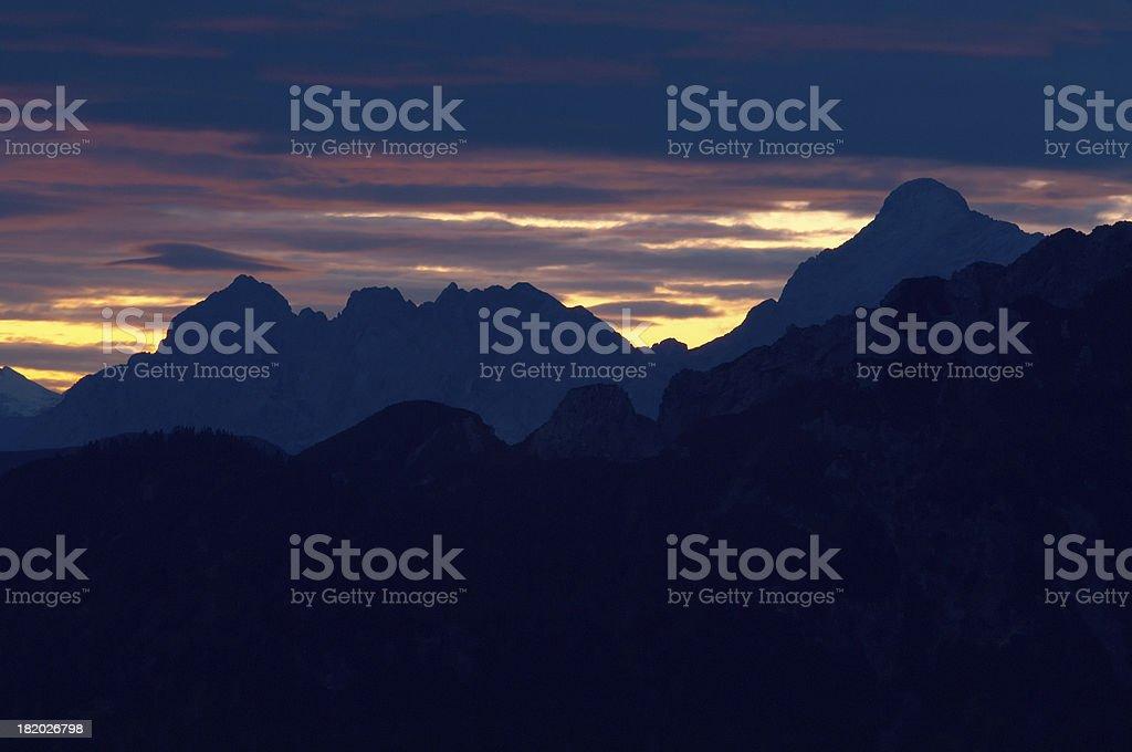 mountain light stock photo