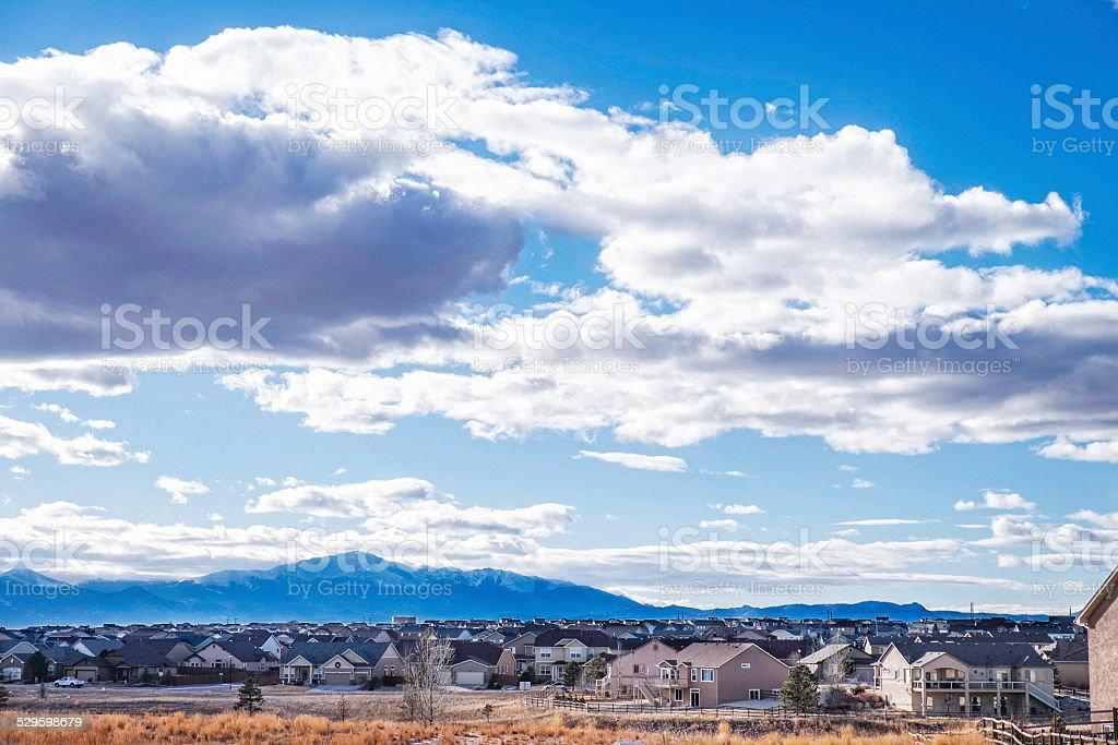 Mountain living in Colorado, USA stock photo