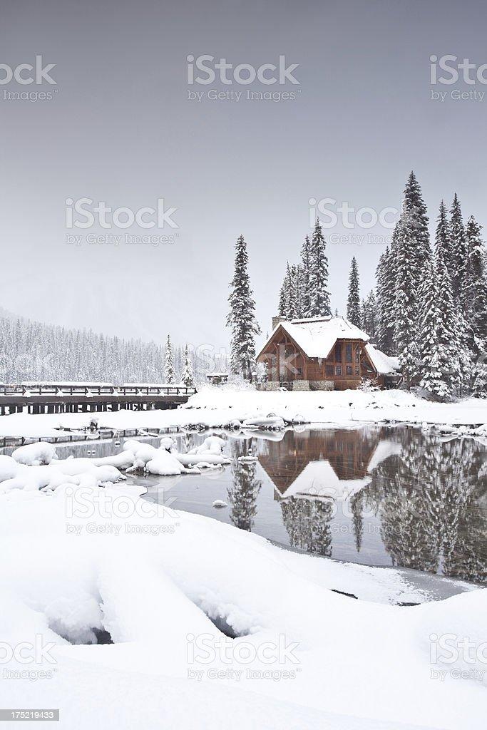 Di montagna in inverno - foto stock