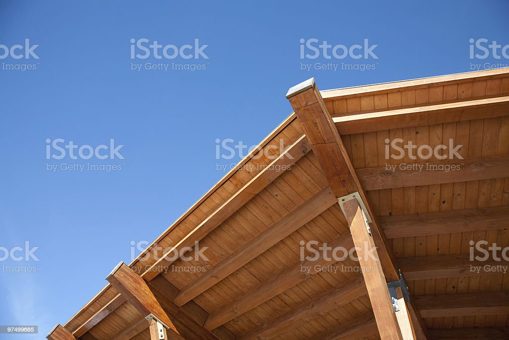 Mountain lodge royalty-free stock photo