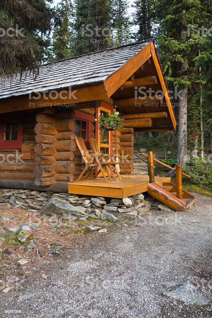 산 로그 객실을 임산 royalty-free 스톡 사진