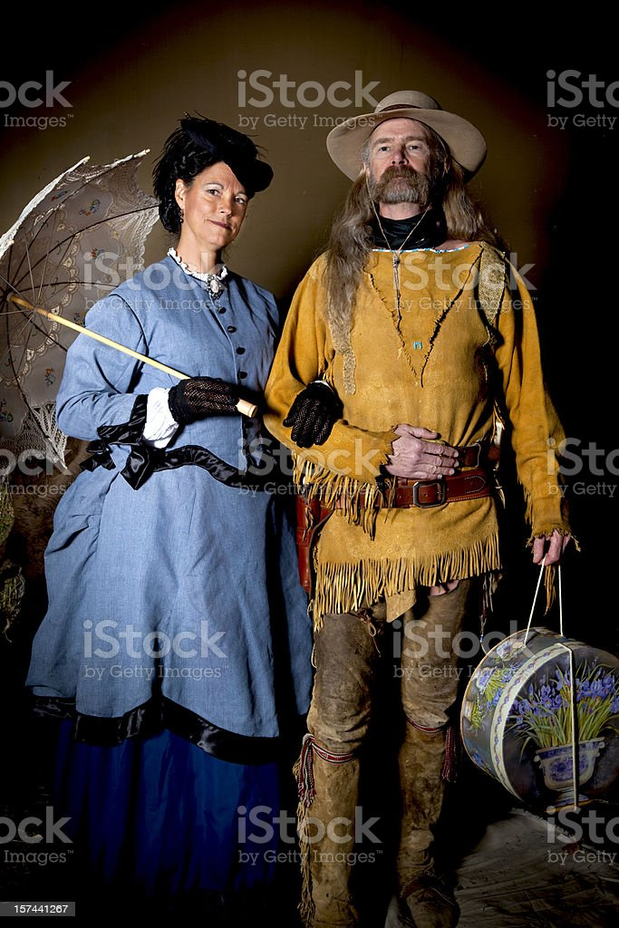 Mountain Man and the Lady royalty-free stock photo