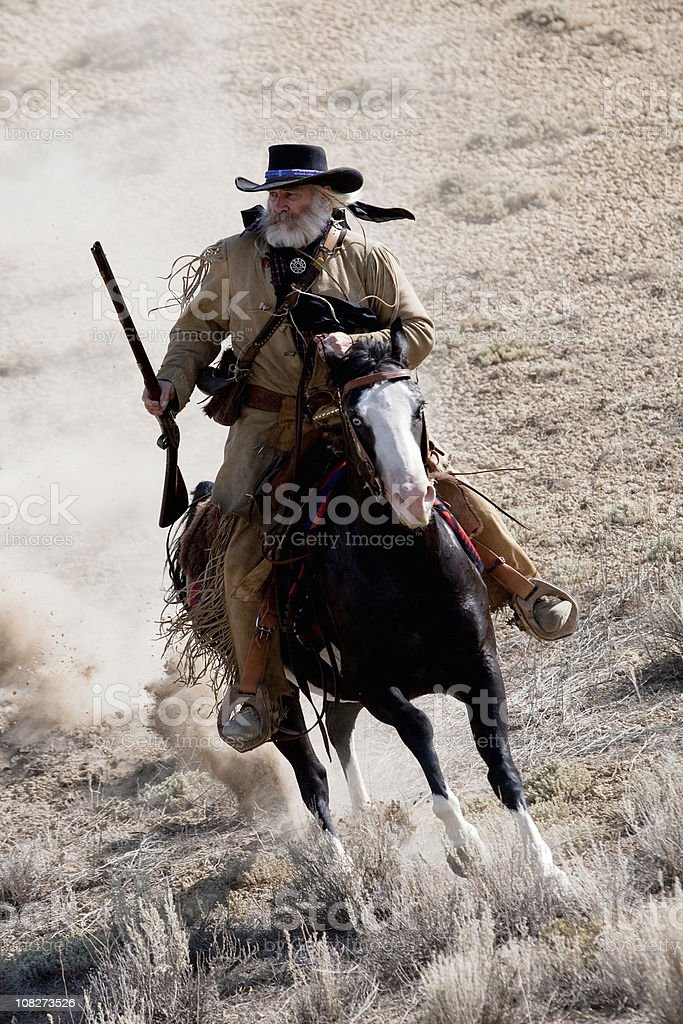 Mountain man stock photo