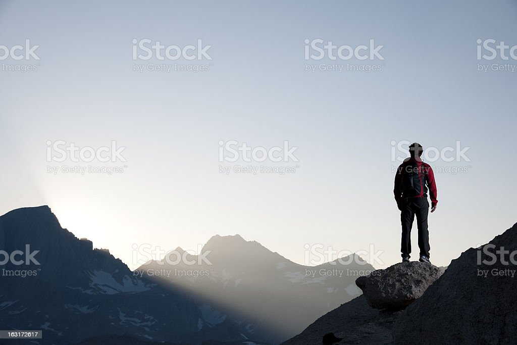 mountain man stock photo