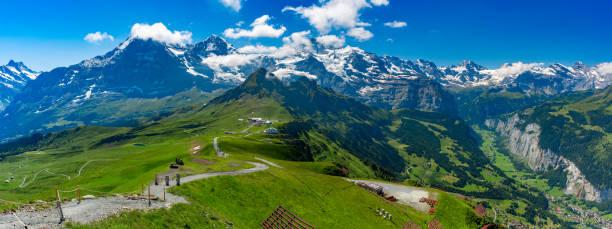 Mountain Mannlichen, Switzerland stock photo