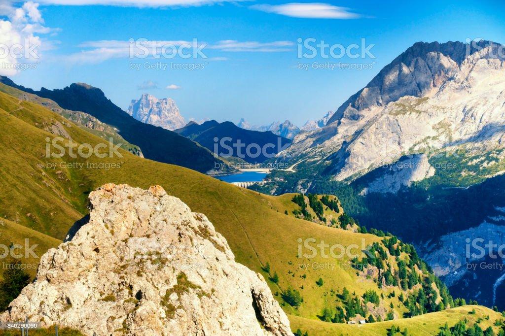 Mountain Marmolada, Dolomites Alps, Italy - foto stock