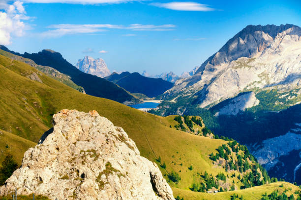 Berg Marmolada, Dolomiten Alpen Italien – Foto