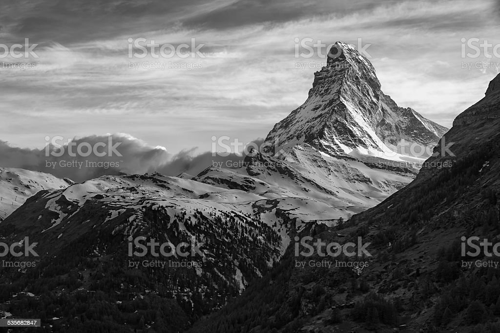 Mountain Matterhorn stock photo