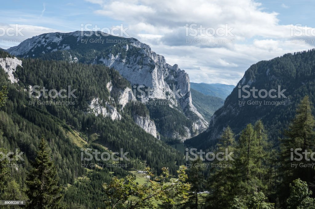 Mountain Meßnerin in Styria, Austria stock photo