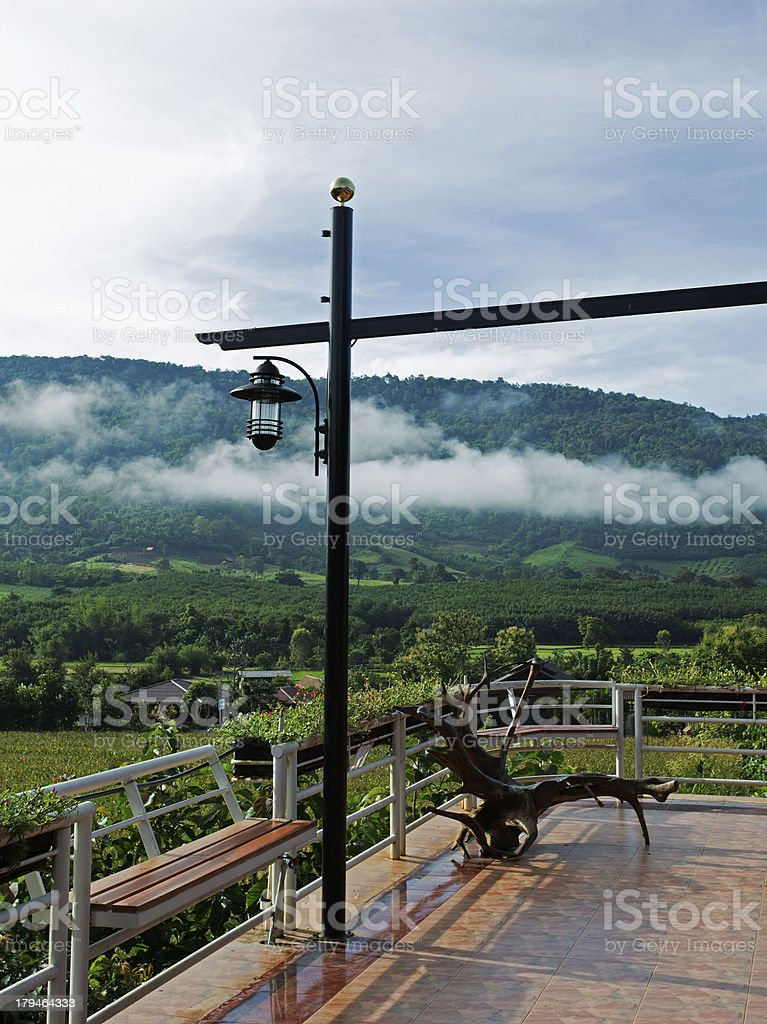 Mountain mist in morning view royalty-free stock photo