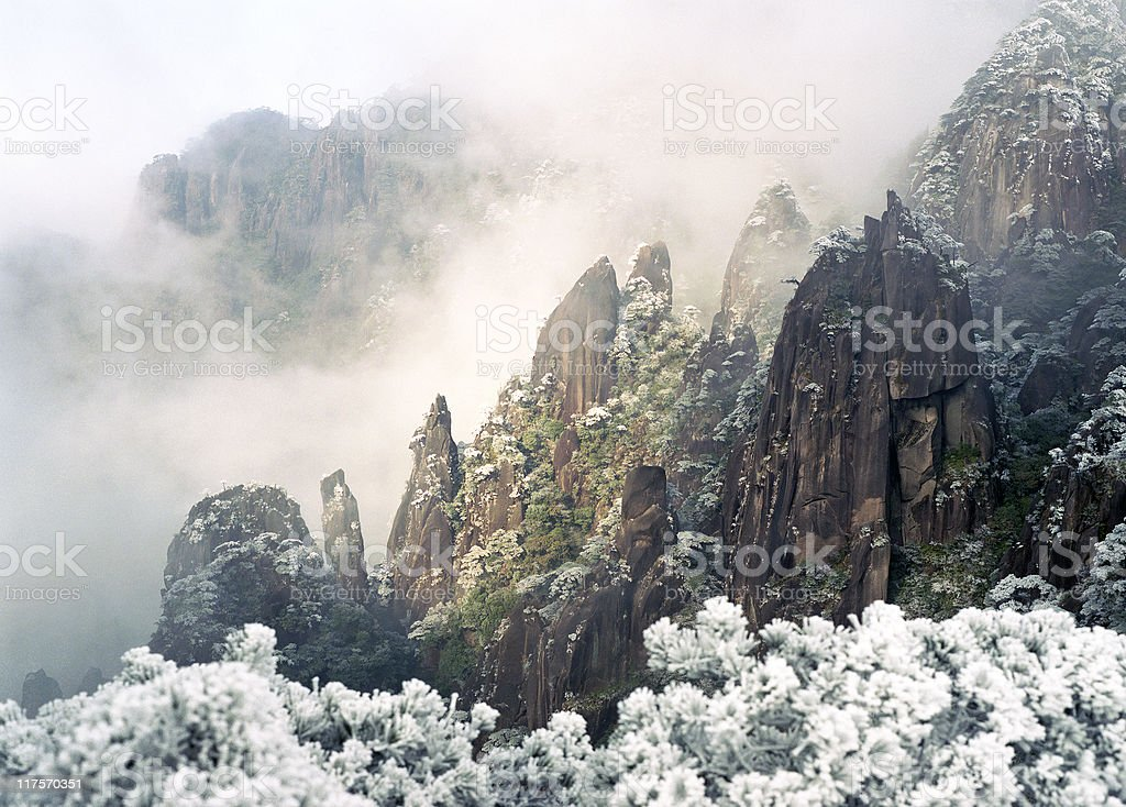 Mountain Mist stock photo