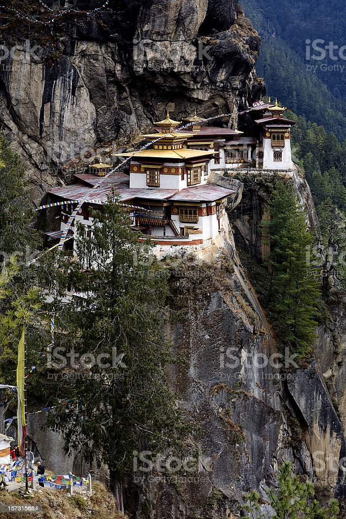 Mountain Monastery in Bhutan royalty-free stock photo