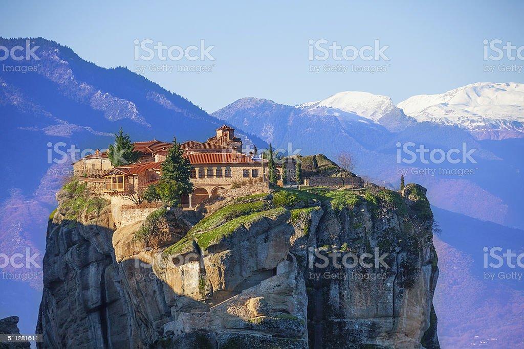 Mountain Monastery of the Holy Trinity stock photo