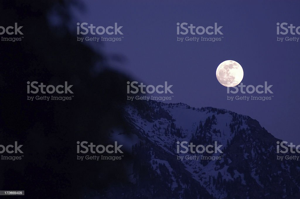 Mountain Moonlight royalty-free stock photo