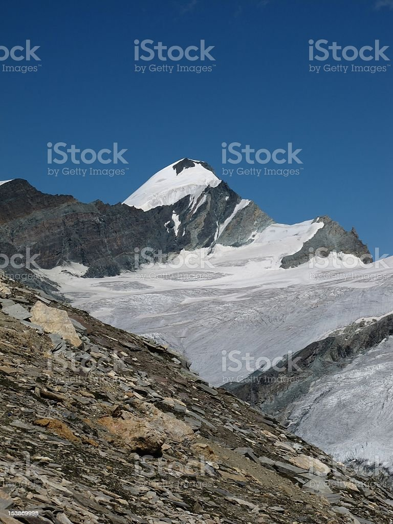 Mountain Named Adlerhorn stock photo