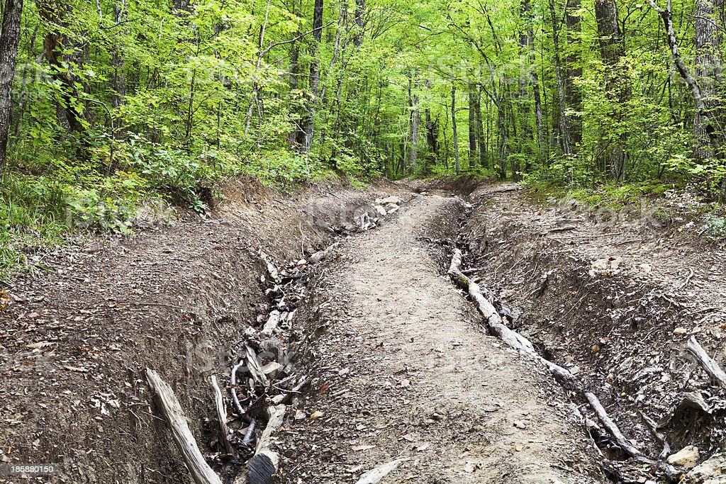 mountain narrow road stock photo