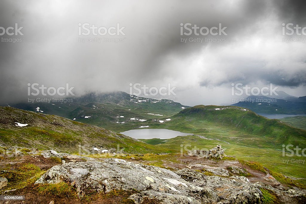 Mountain nature landscape in Morway summer foto royalty-free