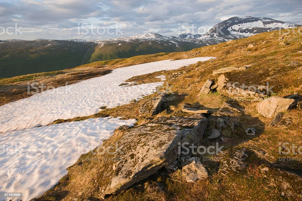 Mountain near Tromso, Norway in June royalty-free stock photo