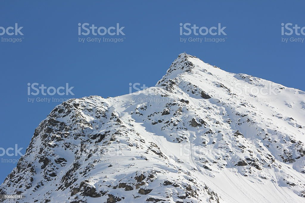 Mountain Neunerkogel during Winter Season, Kühtai, Tirol, Austria stock photo