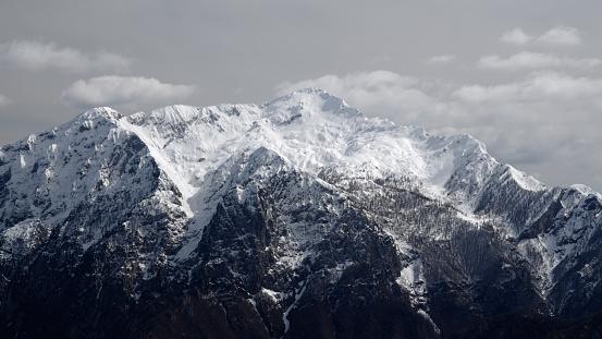 Mountain Northern Grigna Covered With Snow 169 — стоковые фотографии и другие картинки Без людей