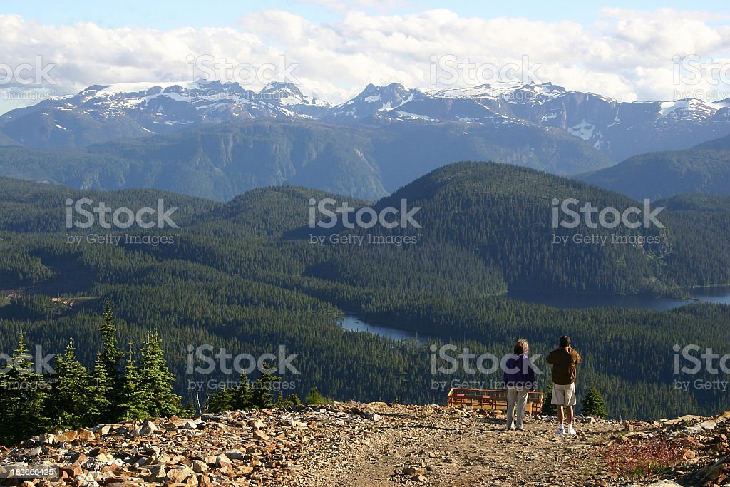 Mountain Observers stock photo