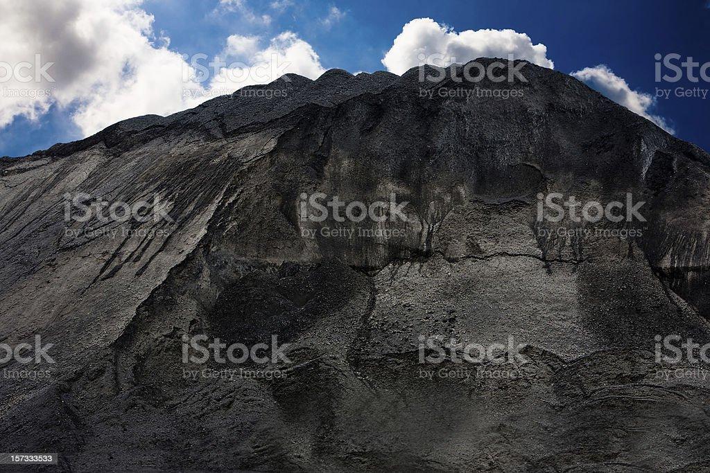Mountain of coal foto