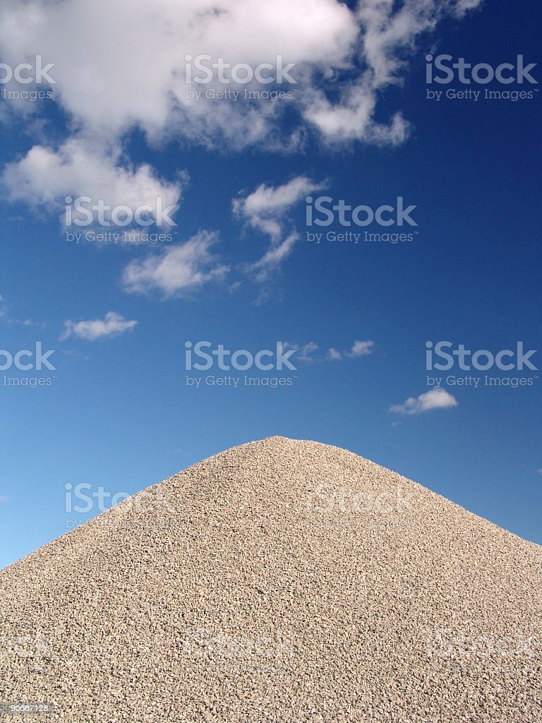 Mountain of Gravel stock photo