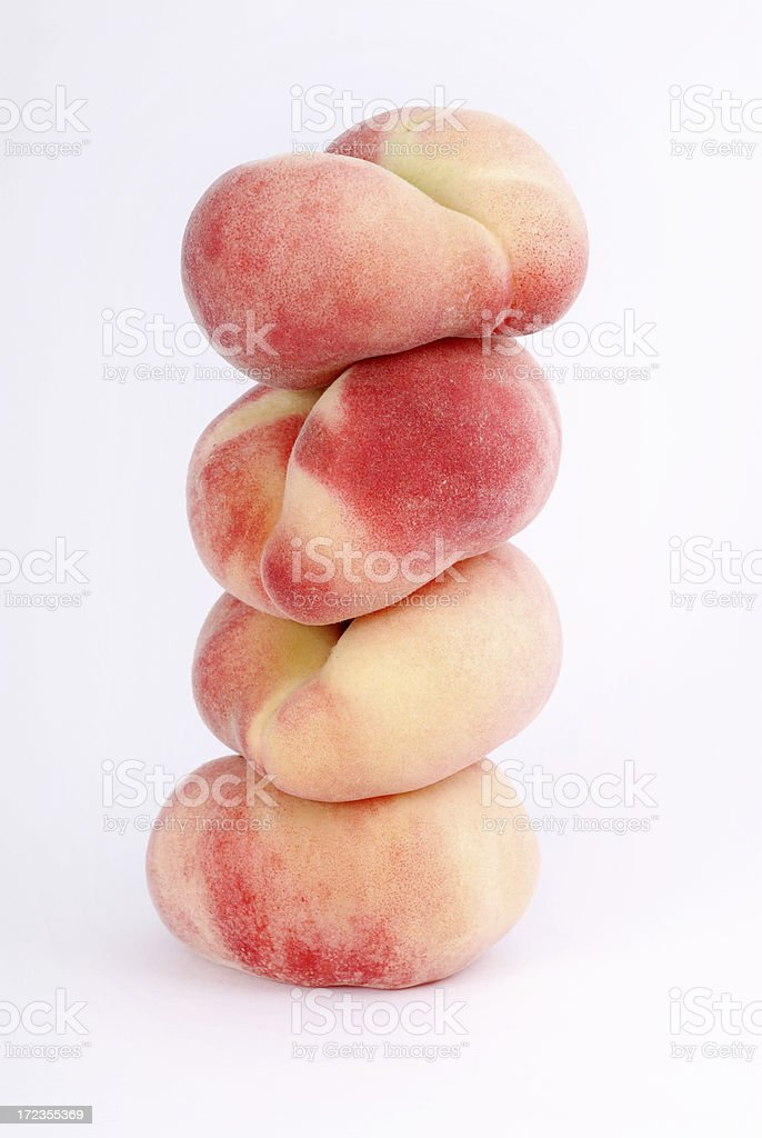 Mountain of peaches royalty-free stock photo
