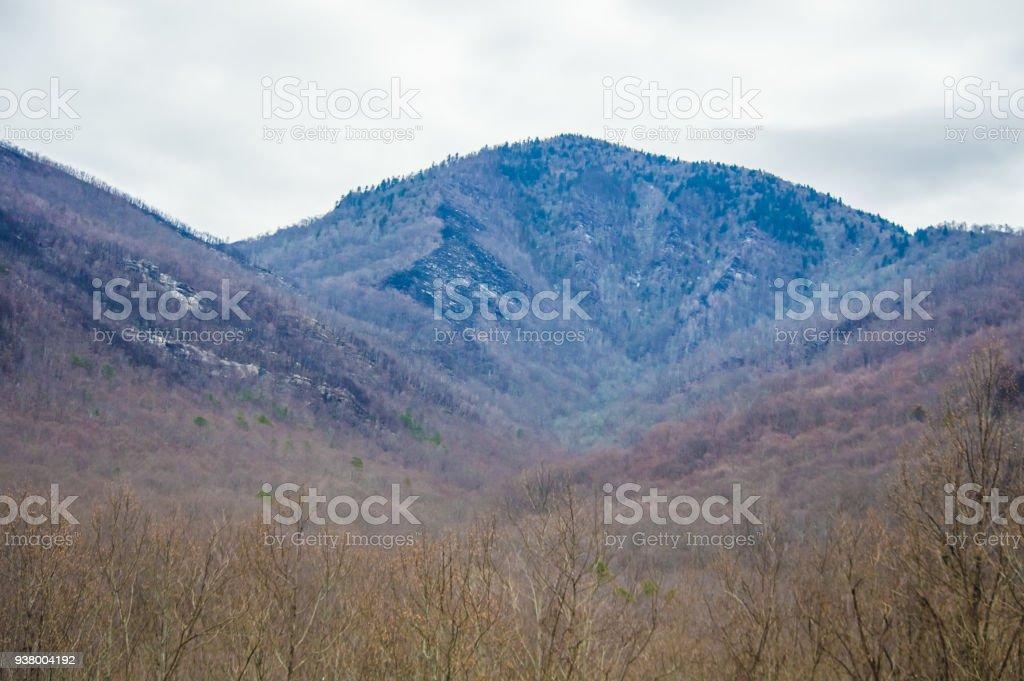 Mountain of Smoky mountains stock photo