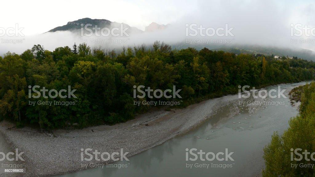 mountain of the Three Becs Saillans stock photo