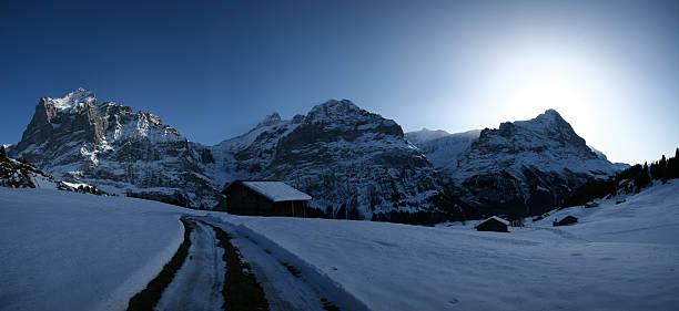Mountain panarama im winter – Foto