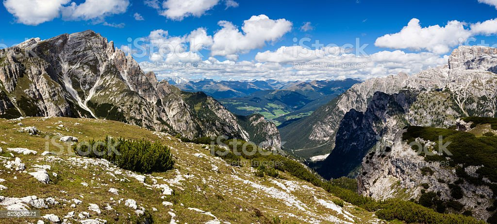 Mountain Panorama - Dolomiti, Italy stock photo