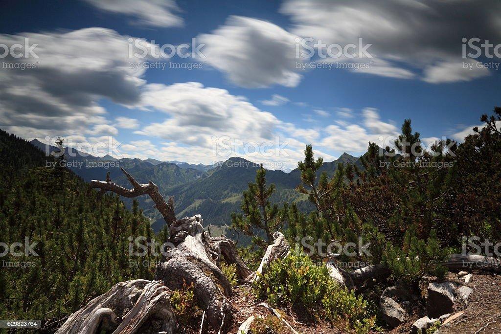 Mountain panorama Hochwurzen stock photo