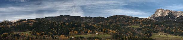 Mountain Panorama in Autumn stock photo