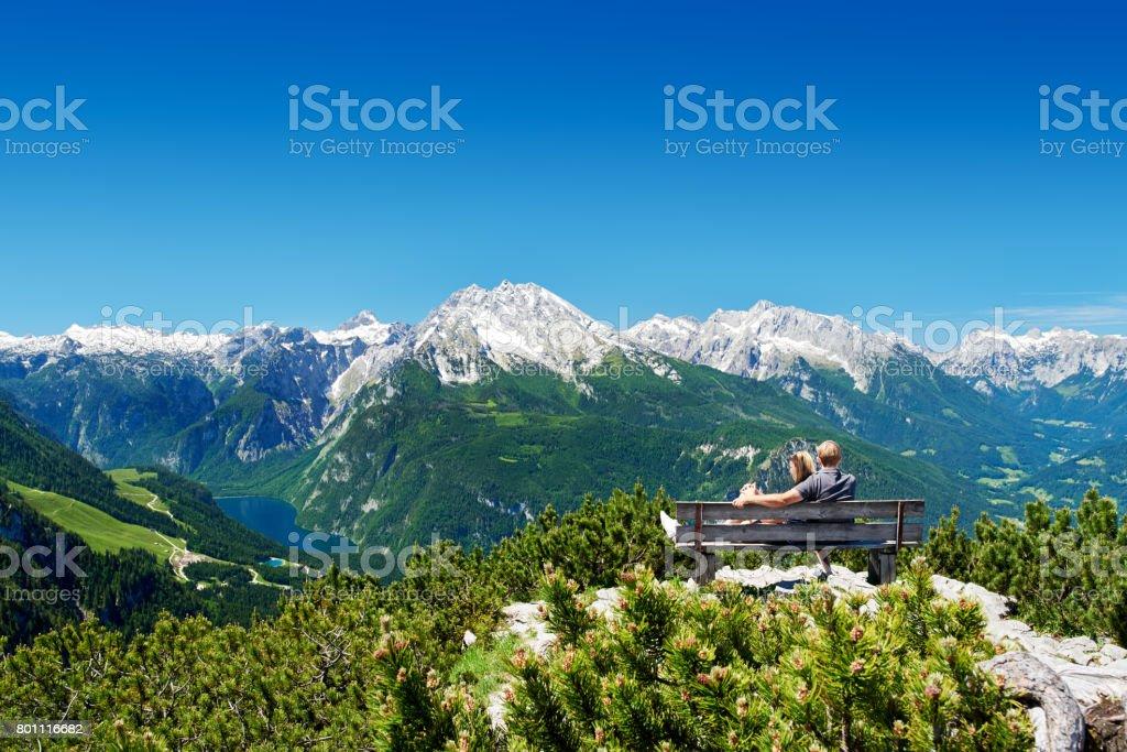 Montanha de panorama - foto de acervo