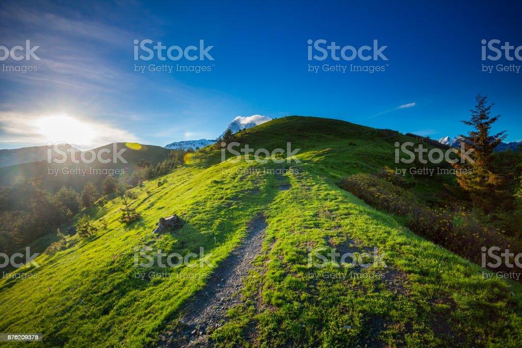 Mountain panorama summer landscape. Georgia stock photo