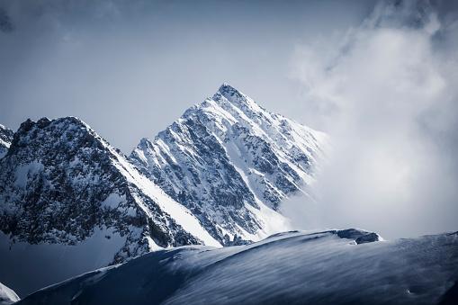 swiss alps mountain panorama in switzerland, europe.