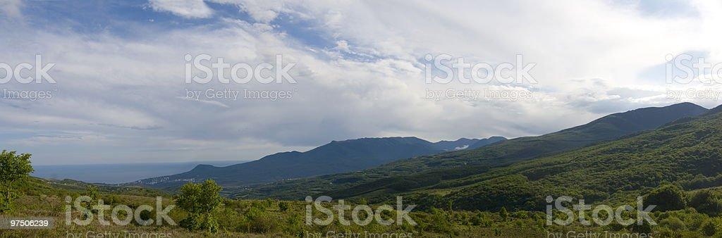 mountain panorama view royalty-free stock photo