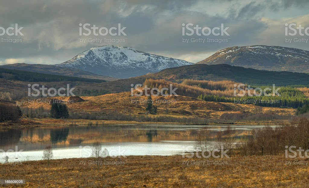 Mountain Panorama with lake royalty-free stock photo