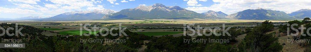 Mountain panoramic stock photo