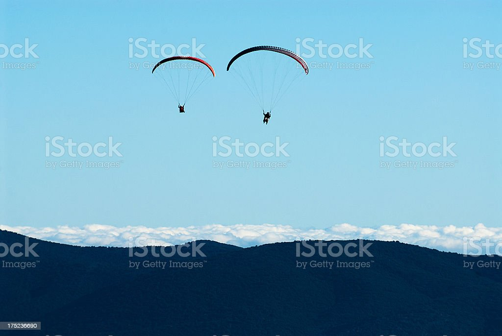 Mountain Paragliders royalty-free stock photo