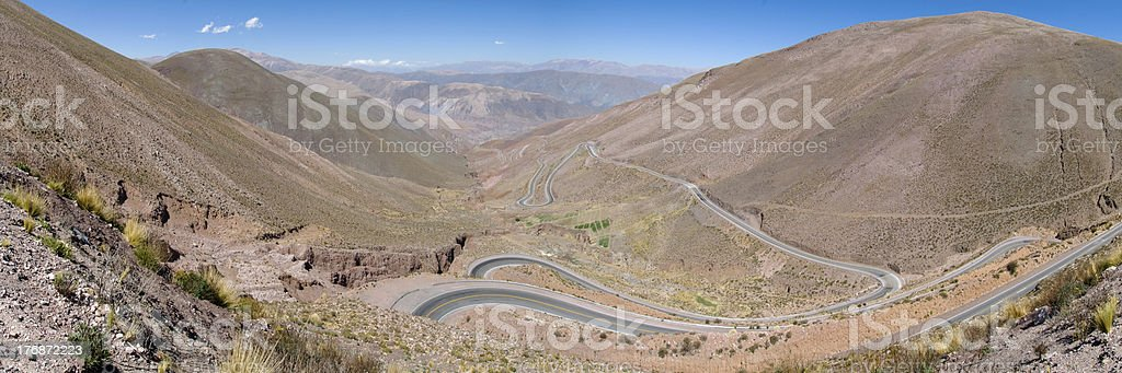 Mountain pass in the  Andes Range, Argentina stock photo