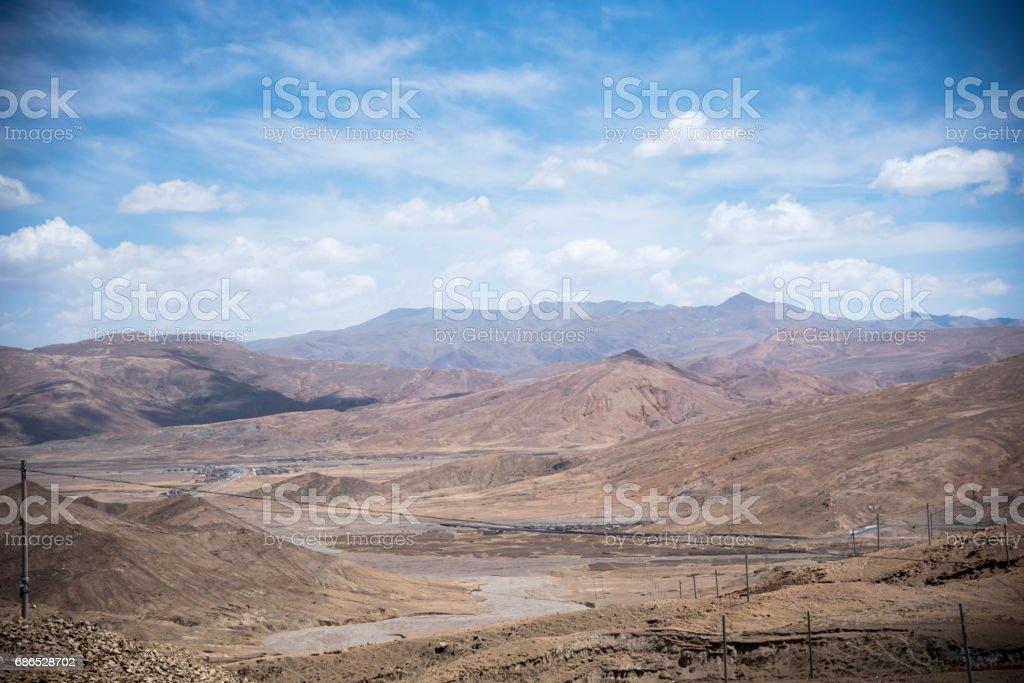 Mountain pass on the Himalaya foto stock royalty-free