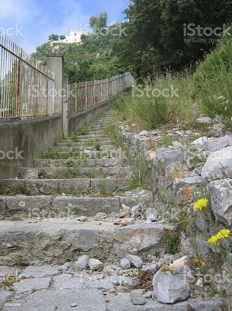 Mountain Path II - Amalfi Coast, Italia royalty-free stock photo
