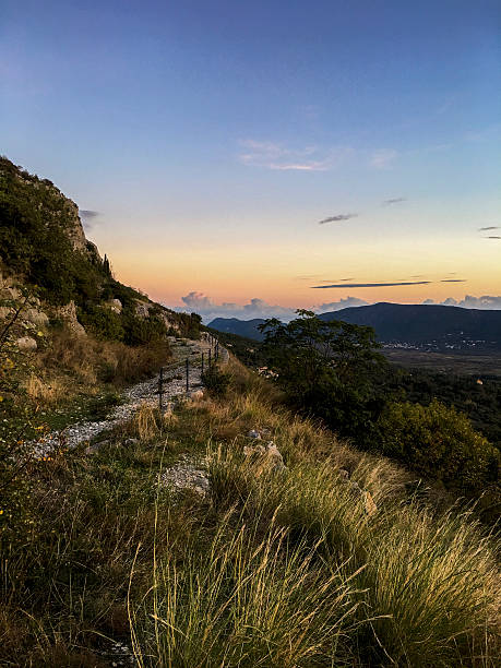 Mountain path in Konavle, Croatia ストックフォト