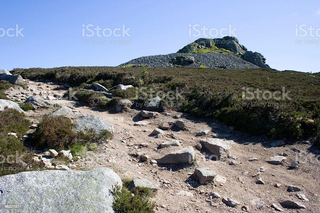 산 경로만 니어 summit royalty-free 스톡 사진