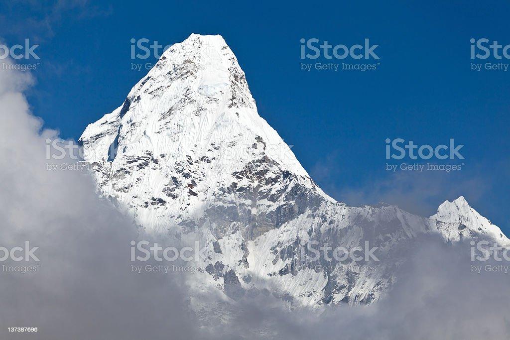 Mountain peak, Ama Dablam royalty-free stock photo