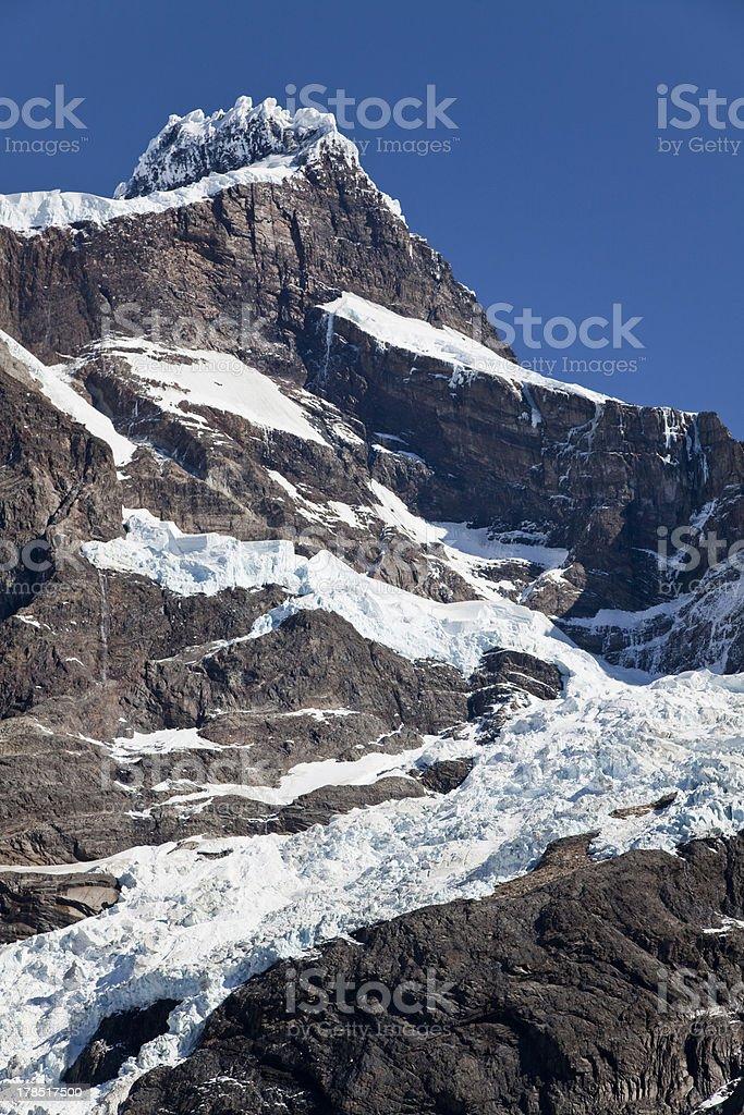 Mountain peak at Torres del Paine royalty-free stock photo