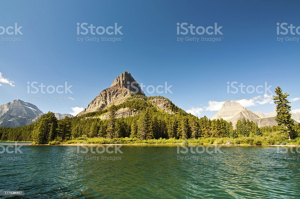 Mountain Peak by Blue Water royalty-free stock photo