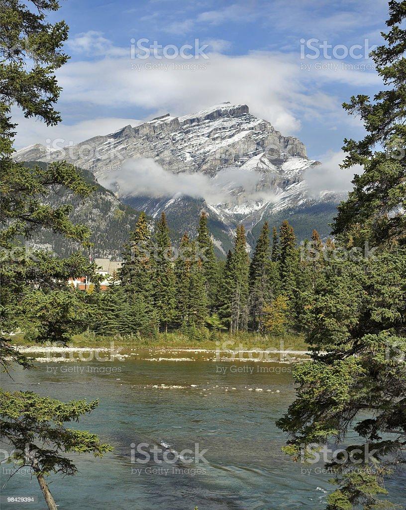 Mountain peak in a snow royalty-free stock photo
